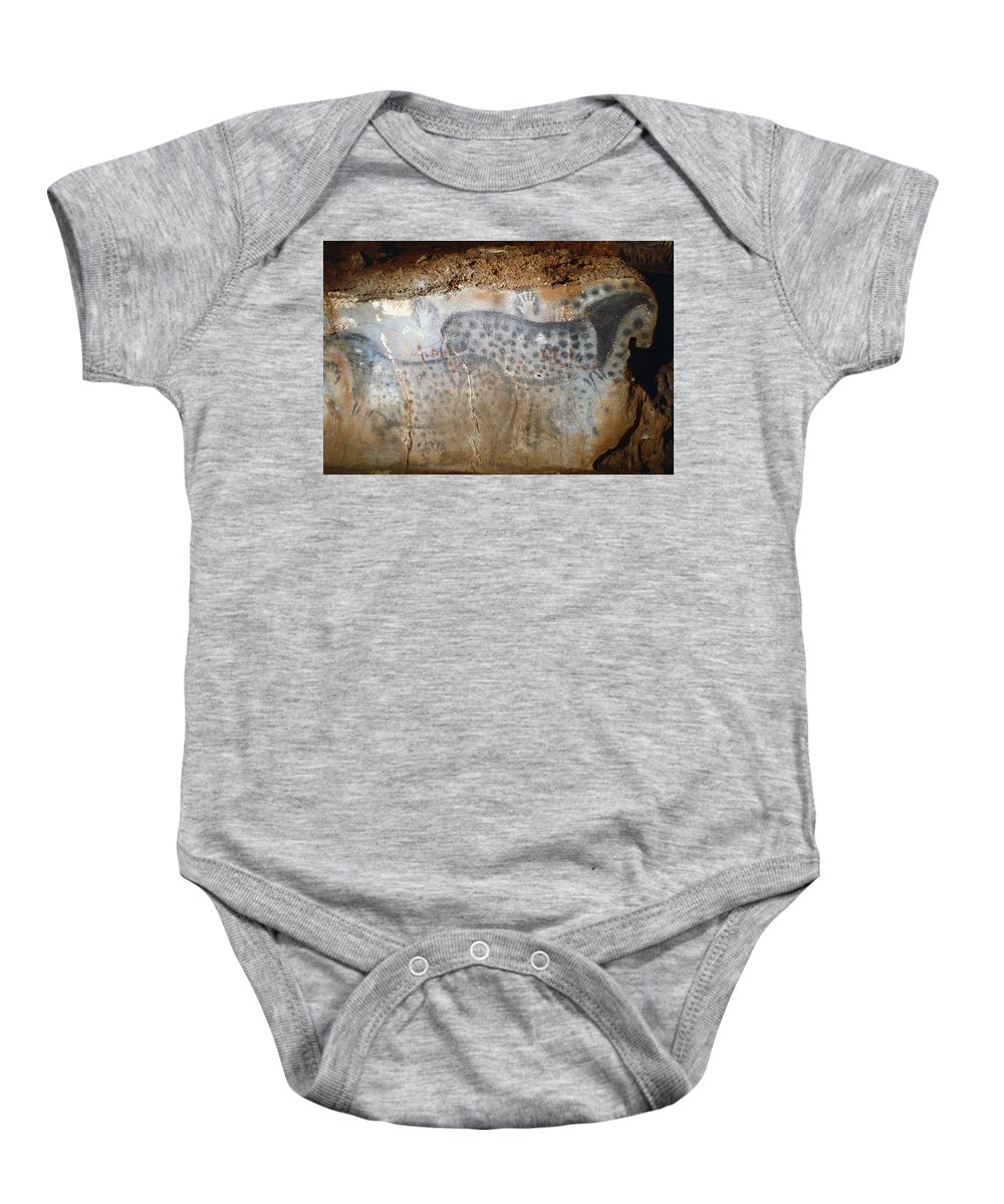 22 Baby Onesie featuring the photograph Cave Art: Horse by Granger