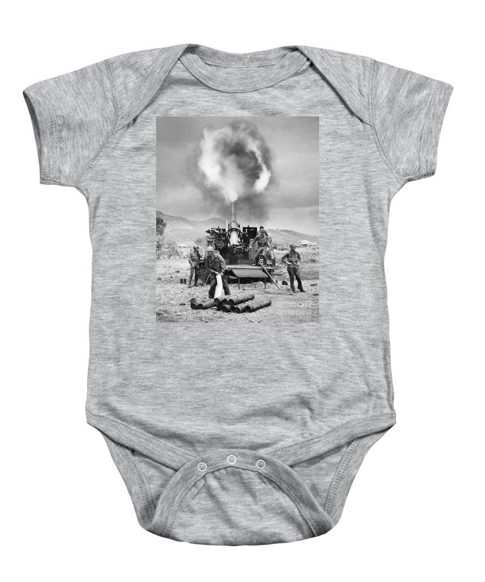 1951 Baby Onesie featuring the photograph Korean War: Artillery by Granger