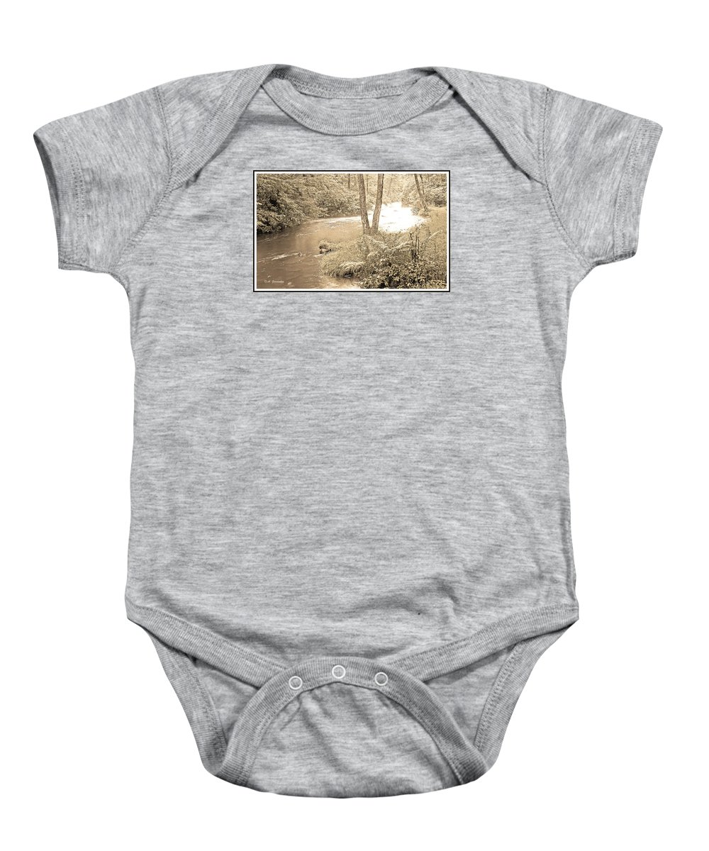 Mud Run Baby Onesie featuring the photograph Mud Run Pocono Mountain Stream Pennsylvania by A Gurmankin