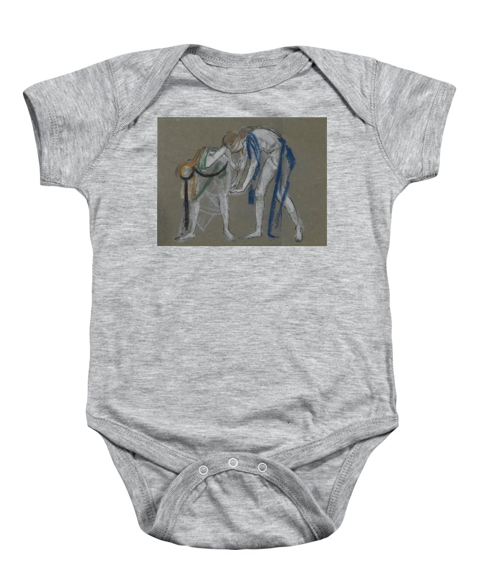 Arthur B. Davies (american Baby Onesie featuring the painting Study Of Two Dancers by Davies