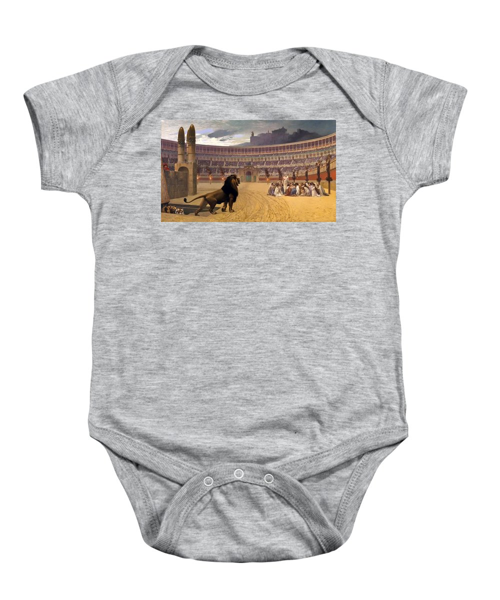 Painting Baby Onesie featuring the painting The Christian Martyrs' Last Prayer by Mountain Dreams