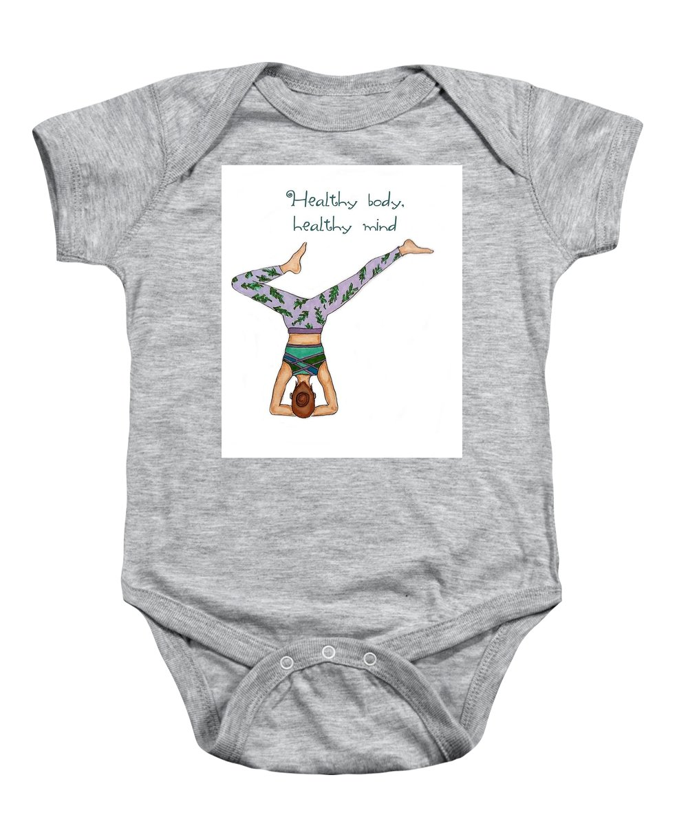 Healthy Baby Onesie featuring the drawing Ad Fashion by Aleksandra Dobanovacki