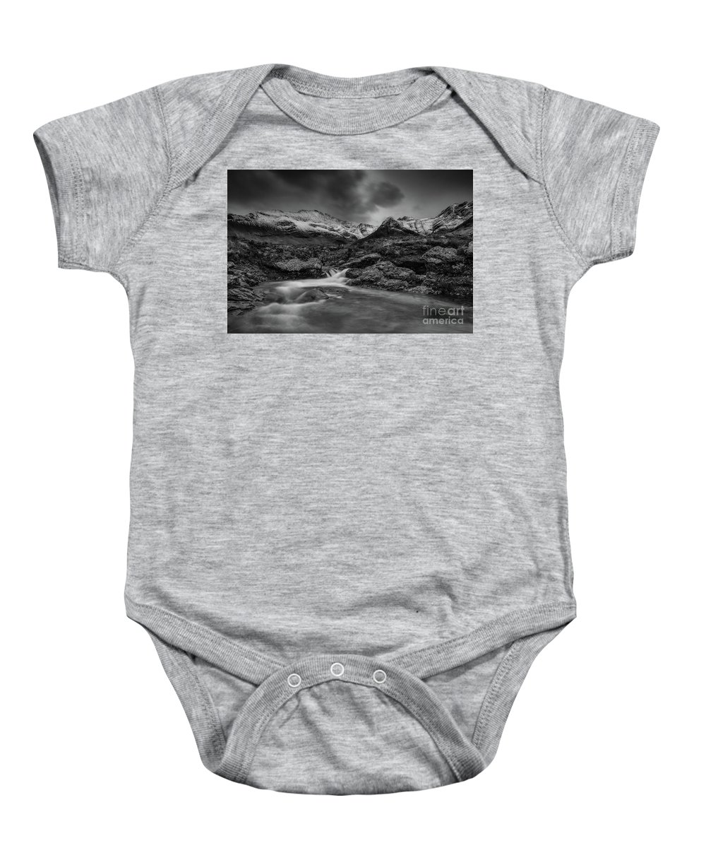 Fairy Pools Baby Onesie featuring the photograph Fairy Pools Of River Brittle by Keith Thorburn LRPS AFIAP CPAGB