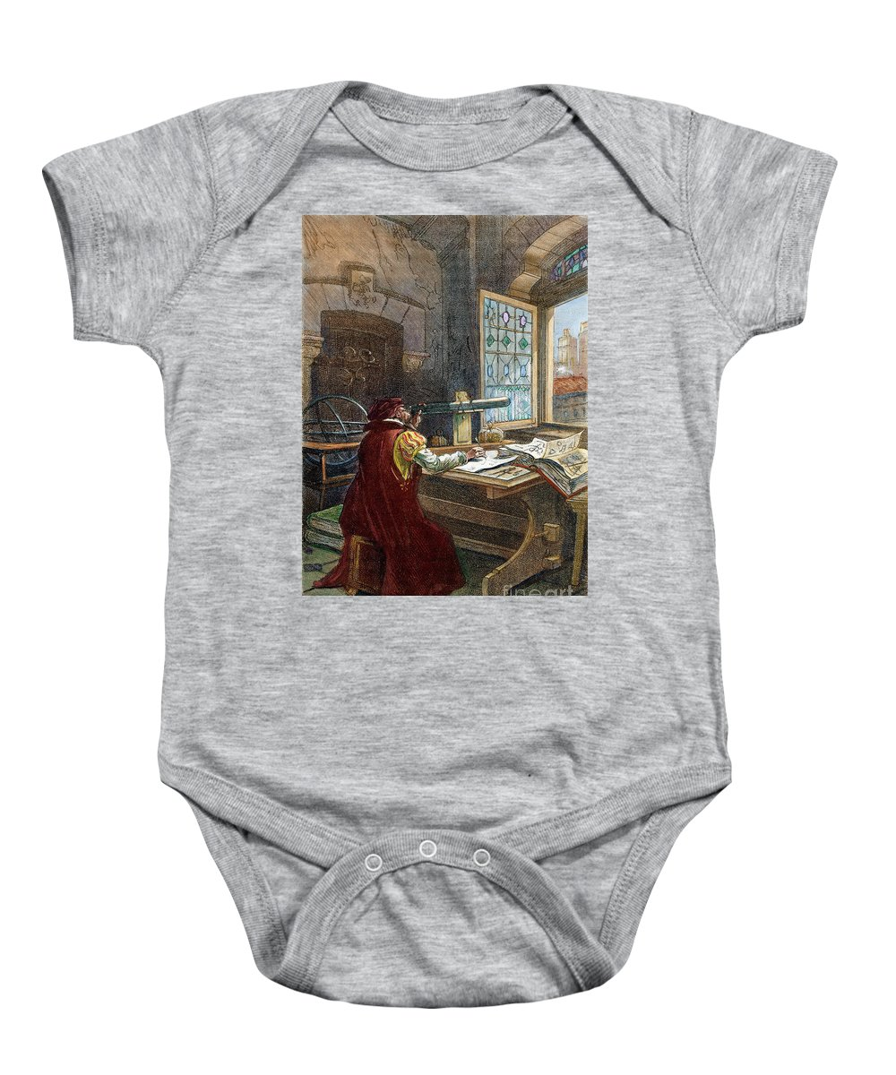 16th Century Baby Onesie featuring the drawing Galileo Galilei, 1564-1642 by Granger