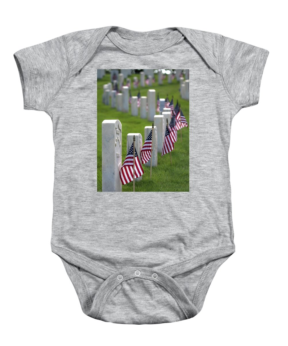 Cobb County Baby Onesie featuring the photograph Memorial Day by Mark Chandler