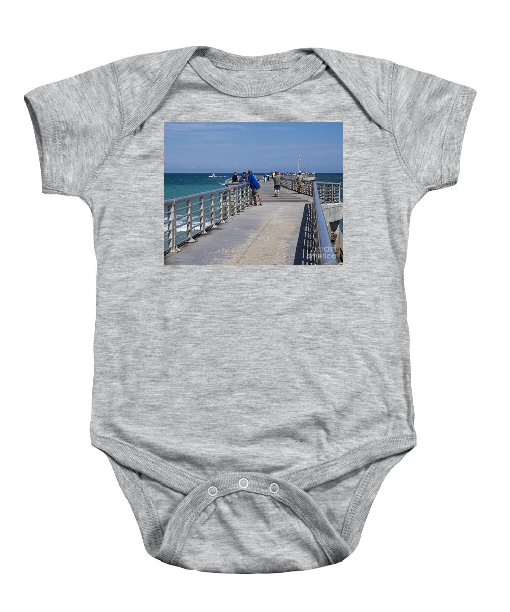 Florida Baby Onesie featuring the photograph Sebastian Inlet State Park In Florida by Allan Hughes