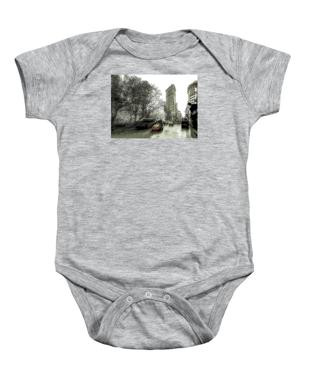 New York Baby Onesie featuring the photograph 5th Avenue Odyssey by Jeff Watts