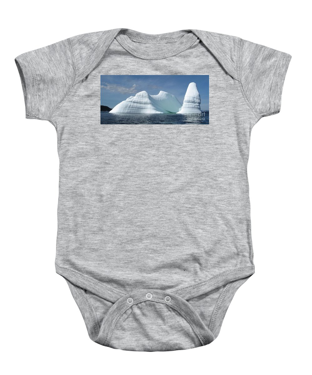 Iceberg Photograph Ice Water Ocean Sea Atlantic Summer Newfoundland Baby Onesie featuring the photograph Iceberg by Seon-Jeong Kim