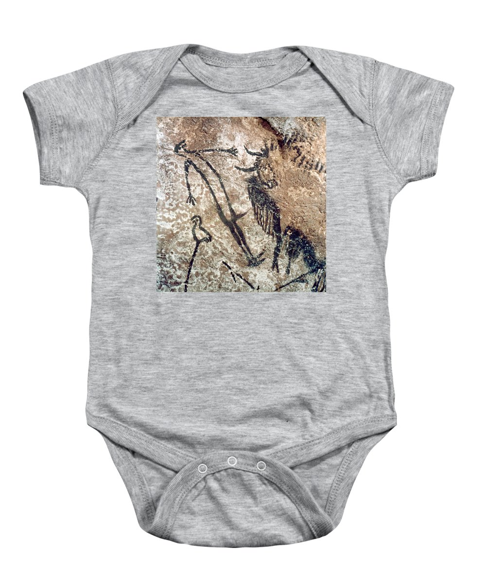 15000 Baby Onesie featuring the photograph Cave Art: Lascaux by Granger