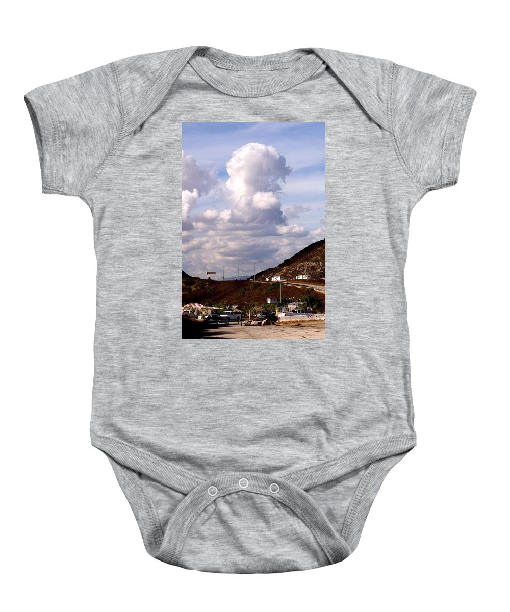 Clay Baby Onesie featuring the photograph Clouds by Clayton Bruster