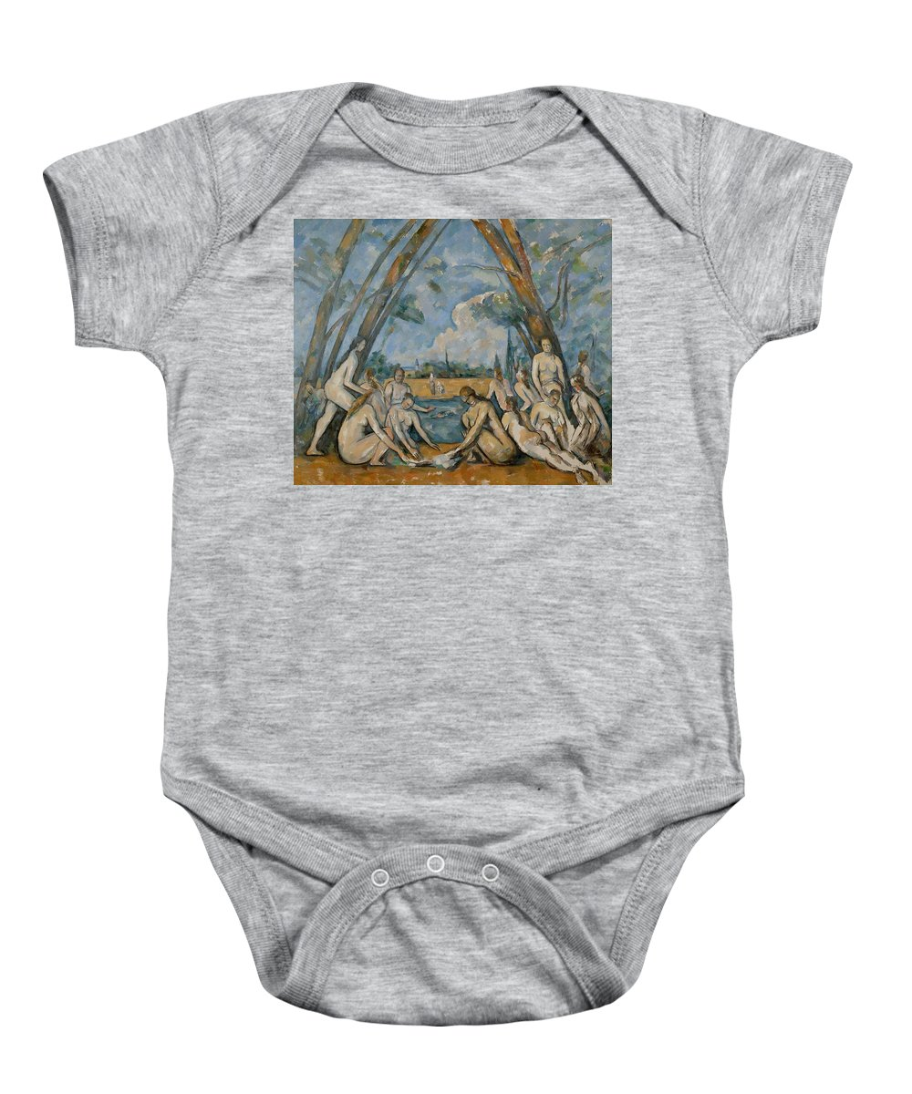 Painting Baby Onesie featuring the painting The Large Bathers by Paul Cezanne