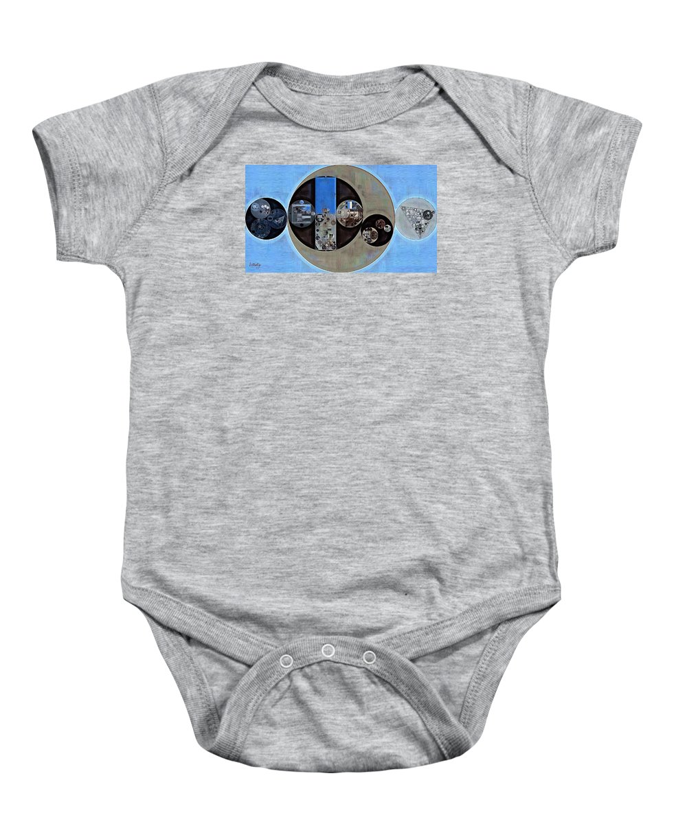 Fantastical Baby Onesie featuring the digital art Abstract Painting - Onyx by Vitaliy Gladkiy