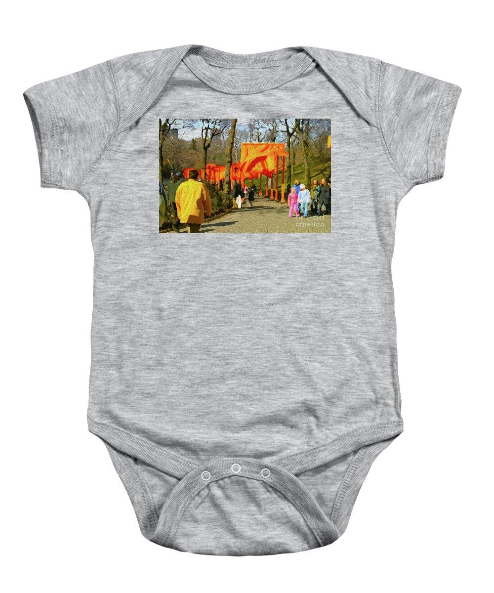Walter Paul Bebirian Baby Onesie featuring the digital art 9-10-3057k by Walter Paul Bebirian