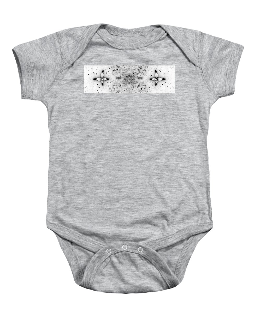 Art Baby Onesie featuring the digital art Bio Show by Marjan Mencin