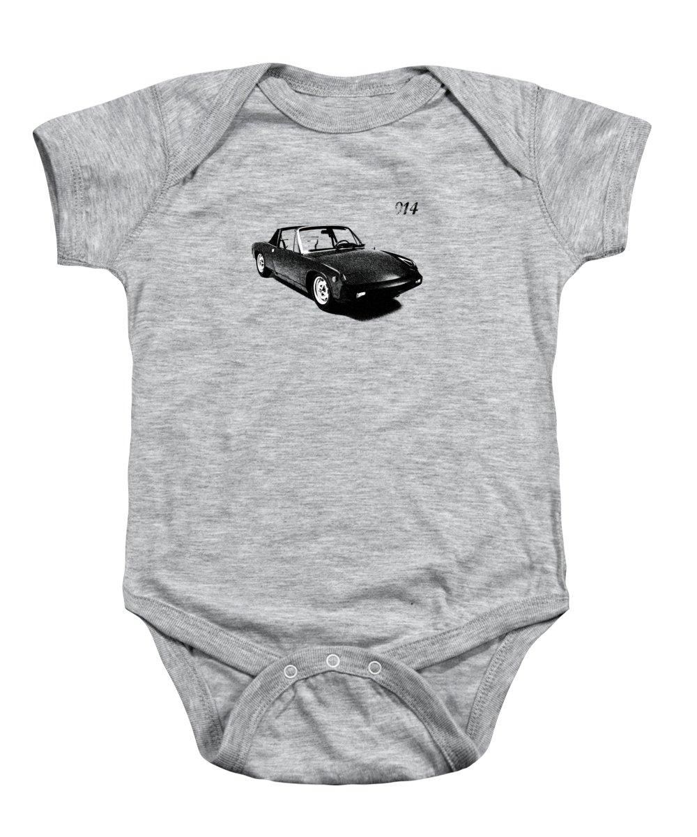 Porsche Baby Onesie featuring the photograph 914 by Mark Rogan