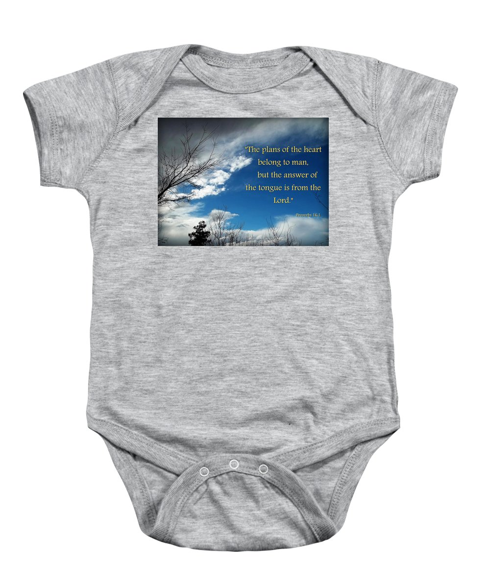 Sky Baby Onesie featuring the photograph A Change Of Plan by Glenn McCarthy Art and Photography