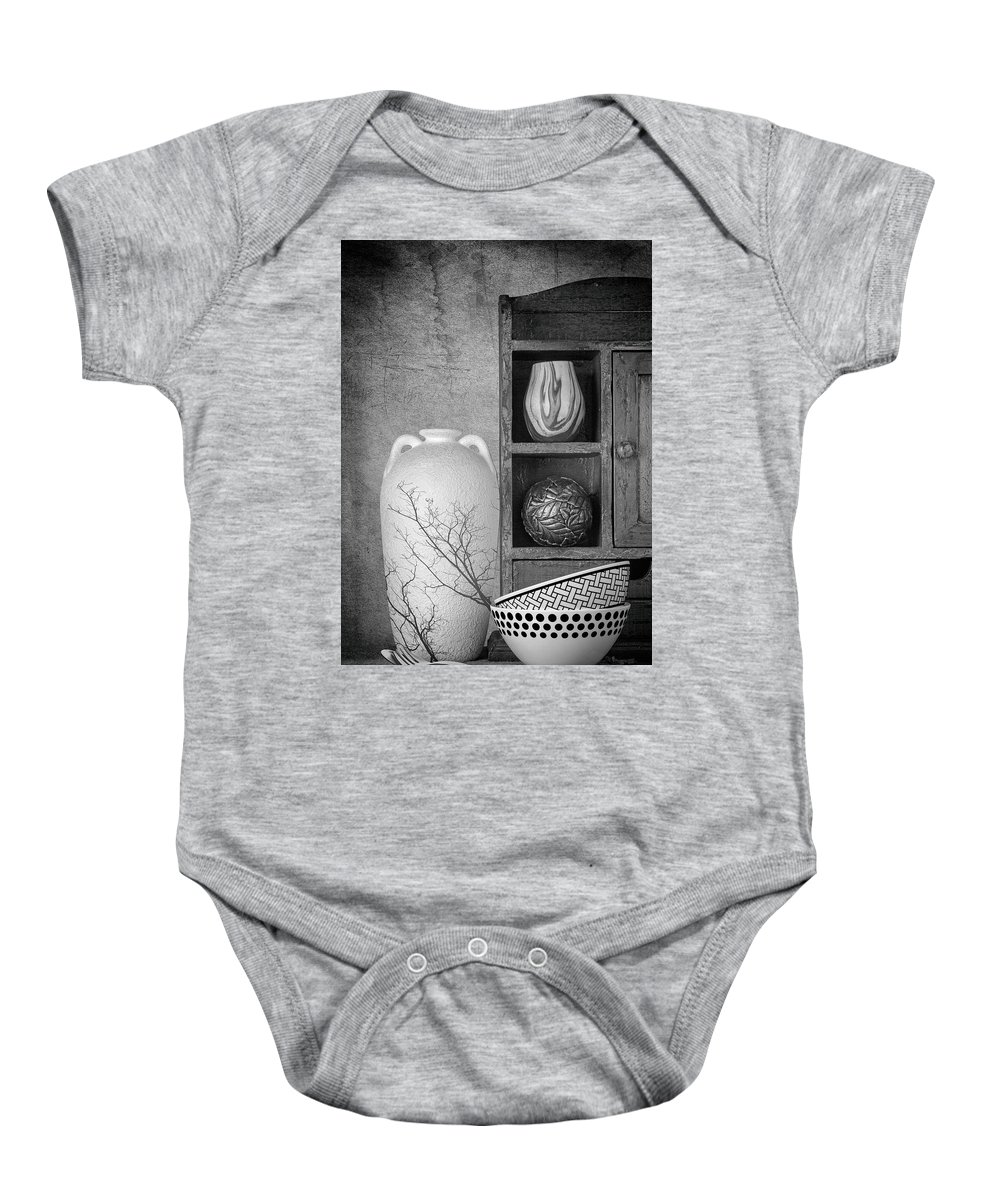 Art Baby Onesie featuring the photograph A Corner Of The Kitchen by Tom Mc Nemar