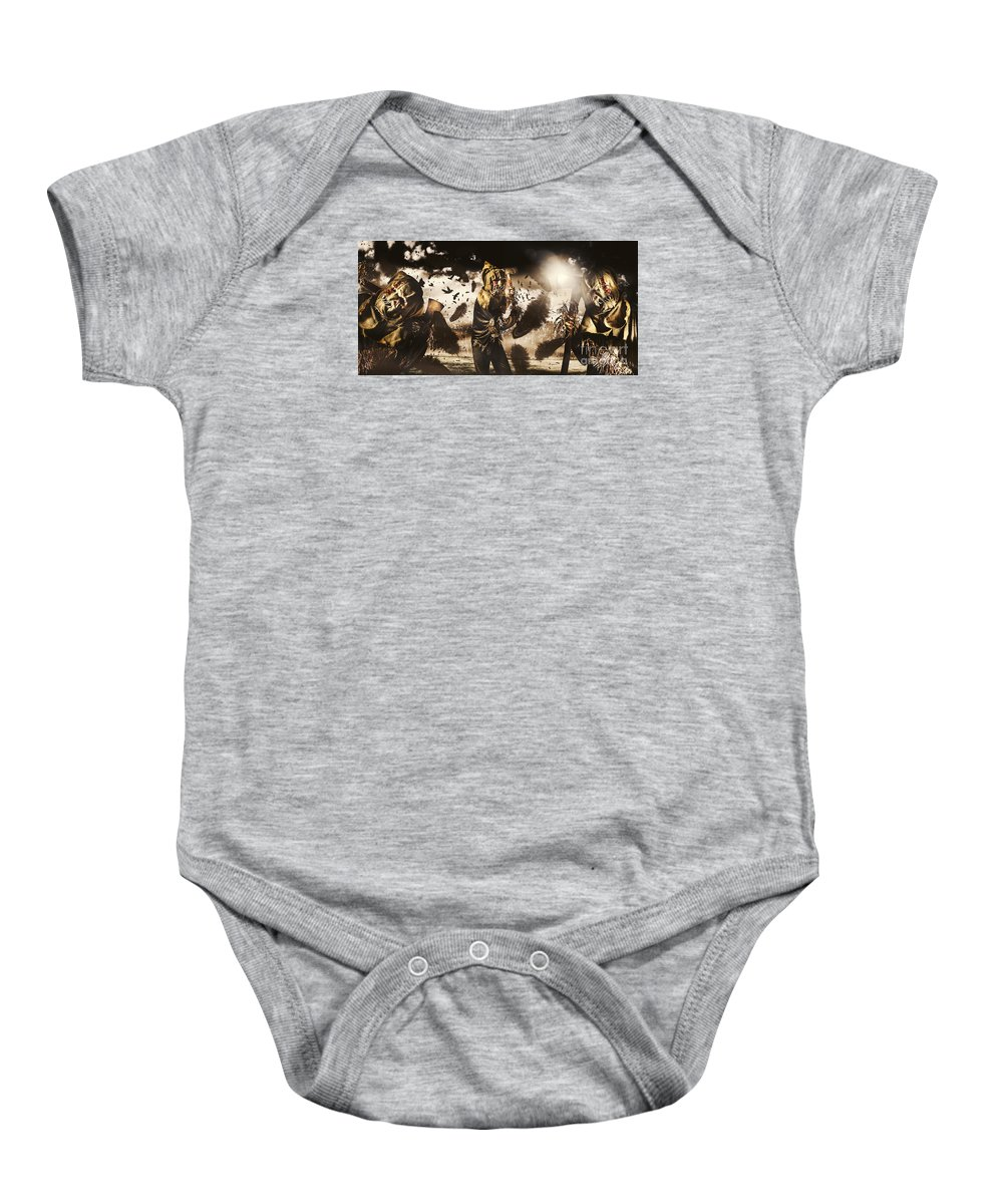Crows Baby Onesie featuring the photograph A Crow Left Of The Murder by Jorgo Photography - Wall Art Gallery