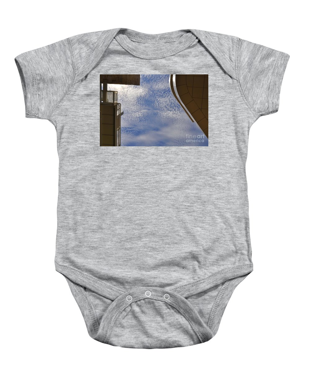 Clay Baby Onesie featuring the photograph A Day At The Getty by Clayton Bruster