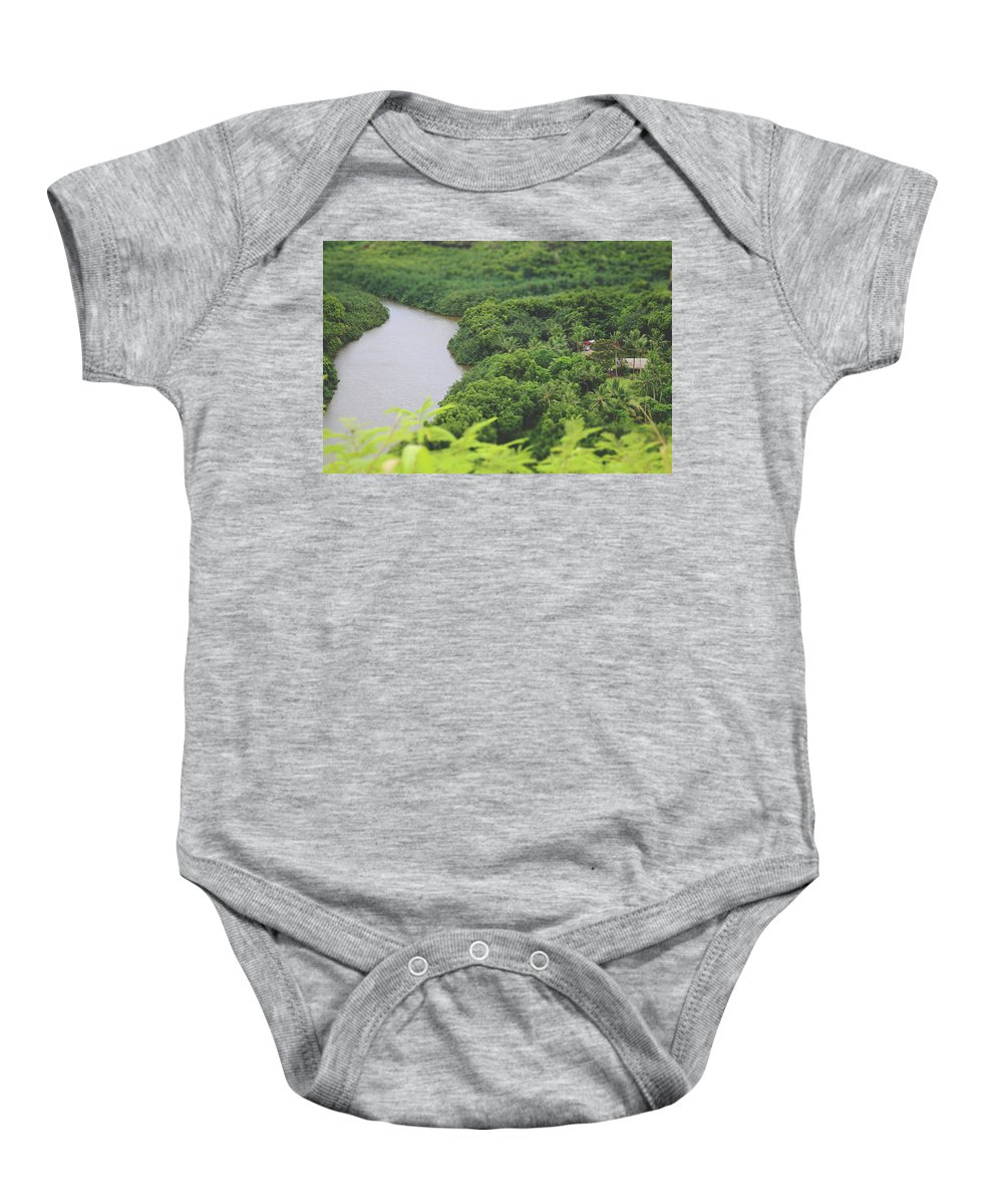 Wailua River Baby Onesie featuring the photograph A Jungle Story by Laurie Search
