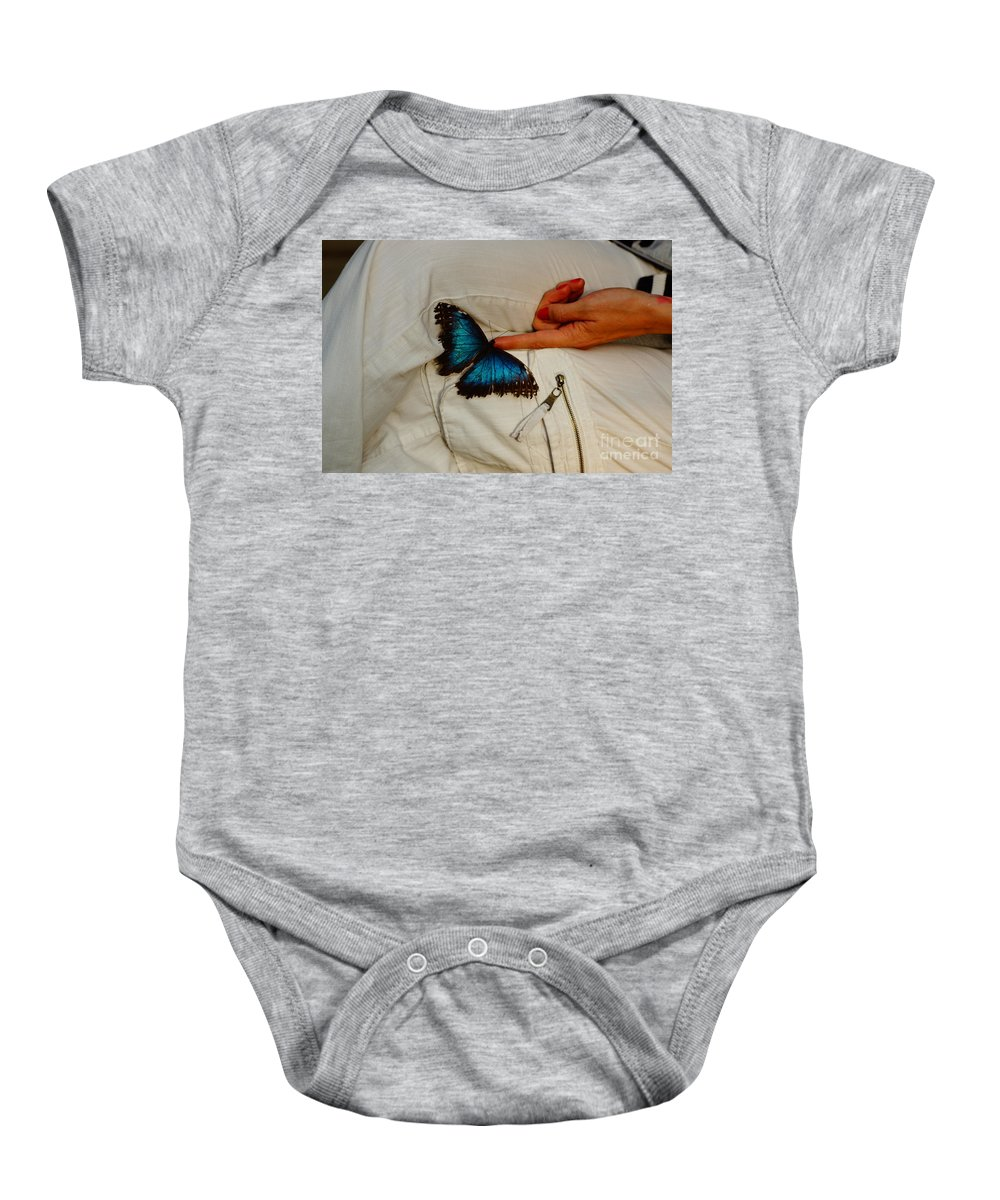 Butterfly's Baby Onesie featuring the photograph A Personal Touch by Jeffery L Bowers