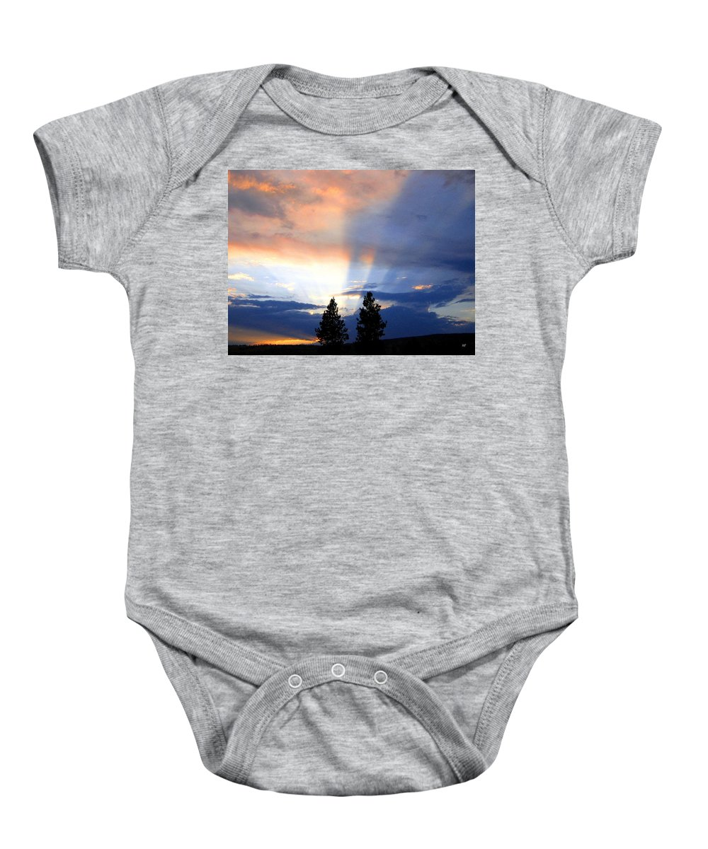 Sky Baby Onesie featuring the photograph A Riveting Sky by Will Borden