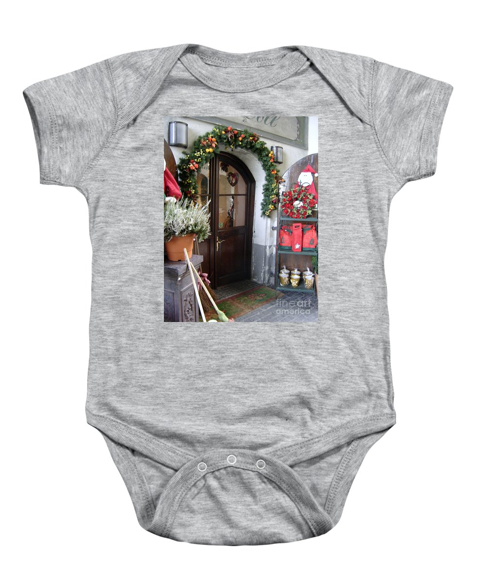 Santa Baby Onesie featuring the photograph A Salzburg Christmas by Mary Rogers