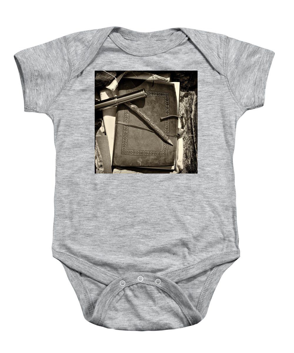 Civil Baby Onesie featuring the photograph A Soldier's Recollection by Scott Wyatt