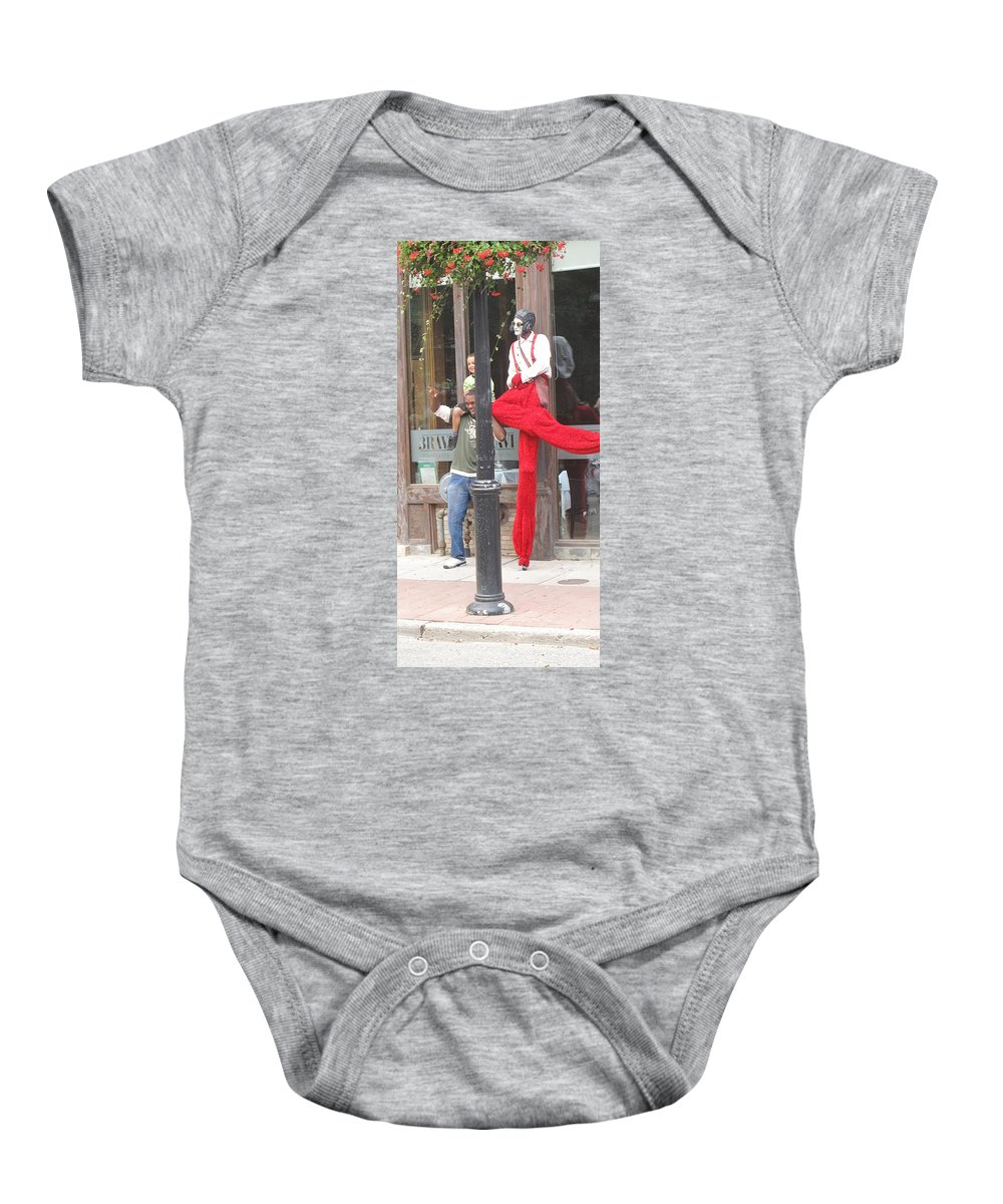 Stilt Baby Onesie featuring the photograph A Tall Composition by Ian MacDonald
