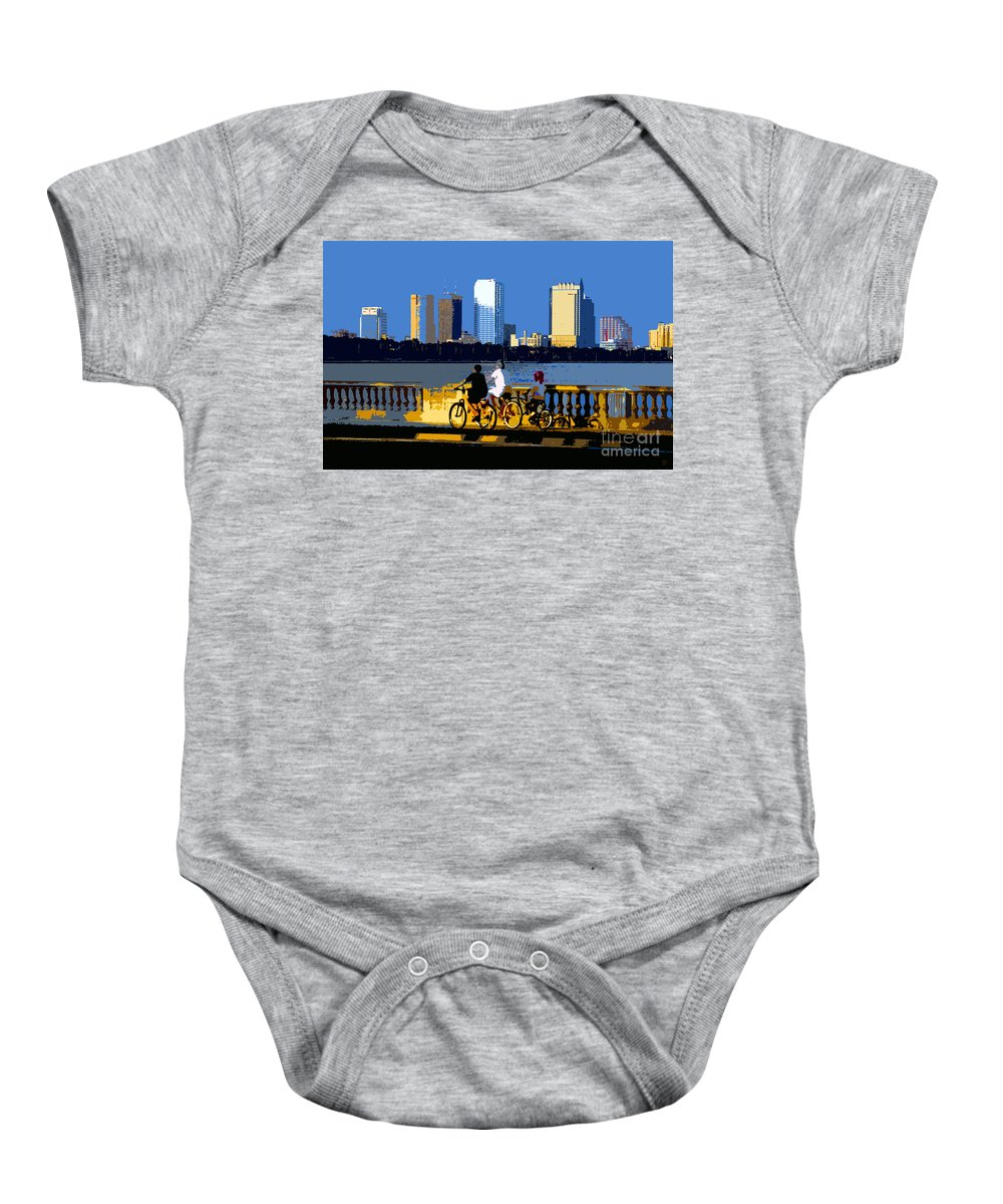Tampa Bay Florida Baby Onesie featuring the painting A Tampa Bay Florida Summer by David Lee Thompson