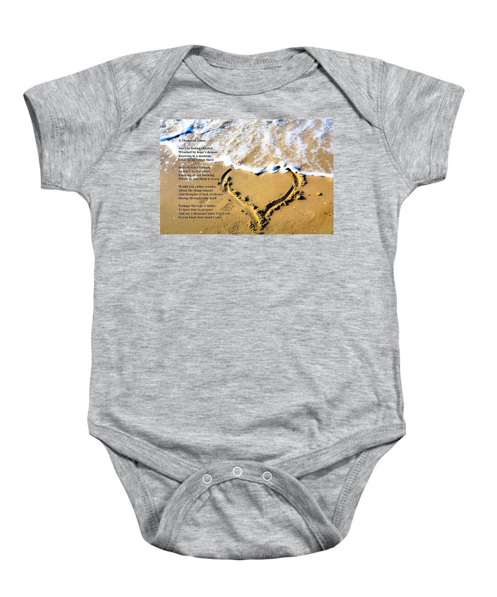 Poems Baby Onesie featuring the photograph A Thousand Times by Robert Longley
