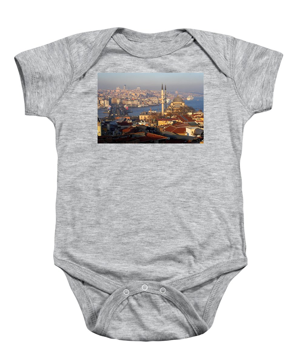 Suburb Baby Onesie featuring the photograph A View From Istanbul by Malik Avunduk