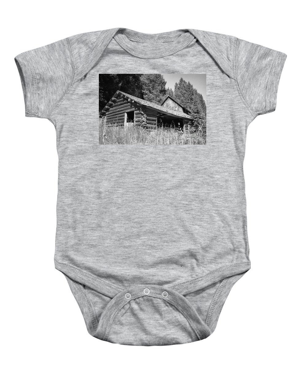 Cabin Baby Onesie featuring the photograph Abandoned Homestead by Richard Rizzo
