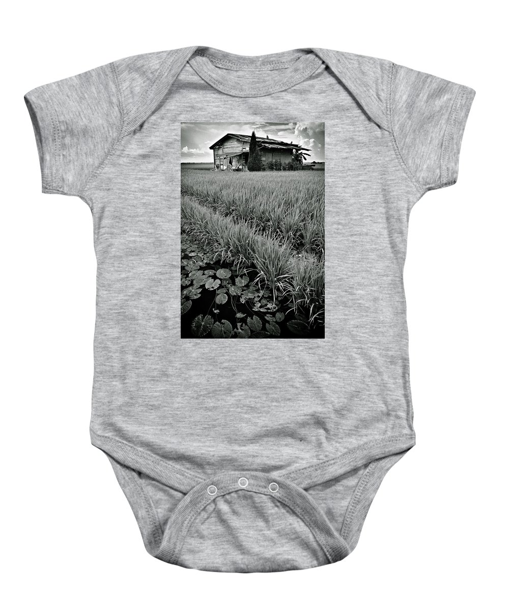 House Baby Onesie featuring the photograph Abandoned House by Dave Bowman