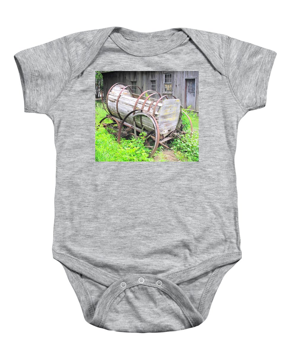 Wagon Baby Onesie featuring the photograph Abandoned by Ian MacDonald