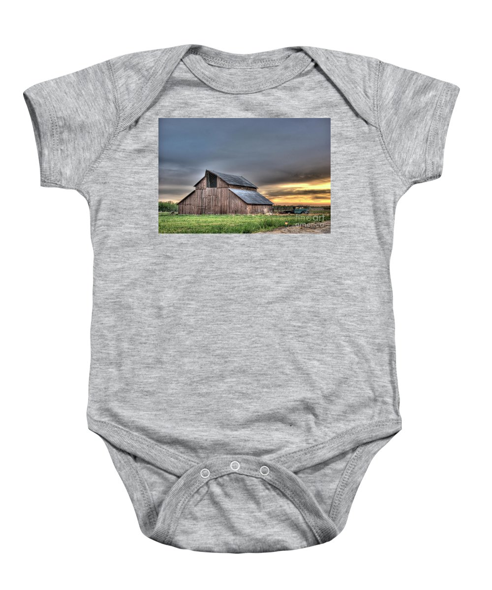 Barn Baby Onesie featuring the photograph Abandoned by Jim And Emily Bush