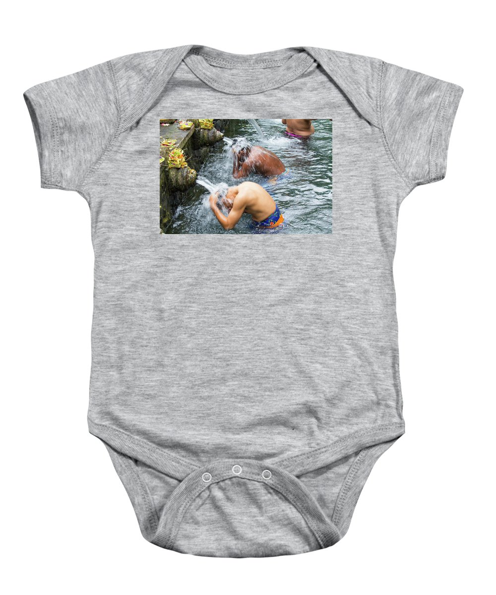 Asia Baby Onesie featuring the photograph Ablutions by Emily M Wilson