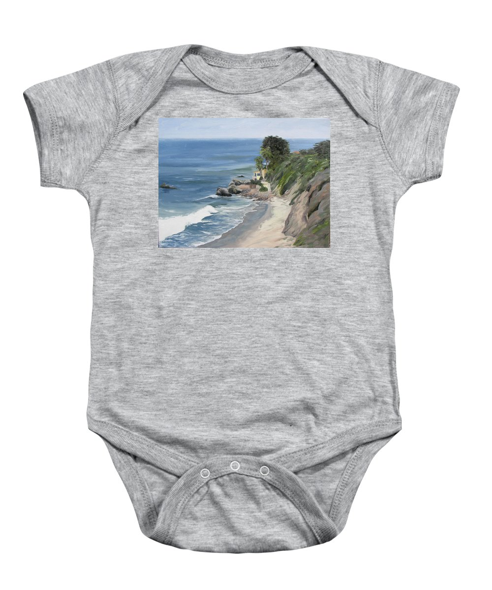 Seascape Baby Onesie featuring the painting Above Zuma by Jay Johnson
