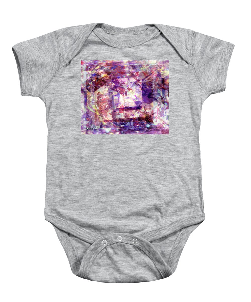 Abstract Baby Onesie featuring the digital art Abstacked by Seth Weaver