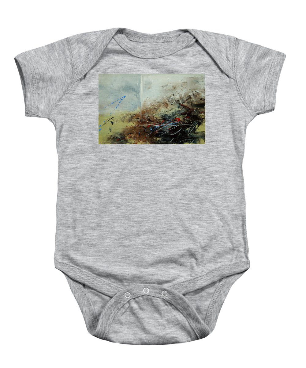 Abstract Baby Onesie featuring the print Abstract 070408 by Pol Ledent
