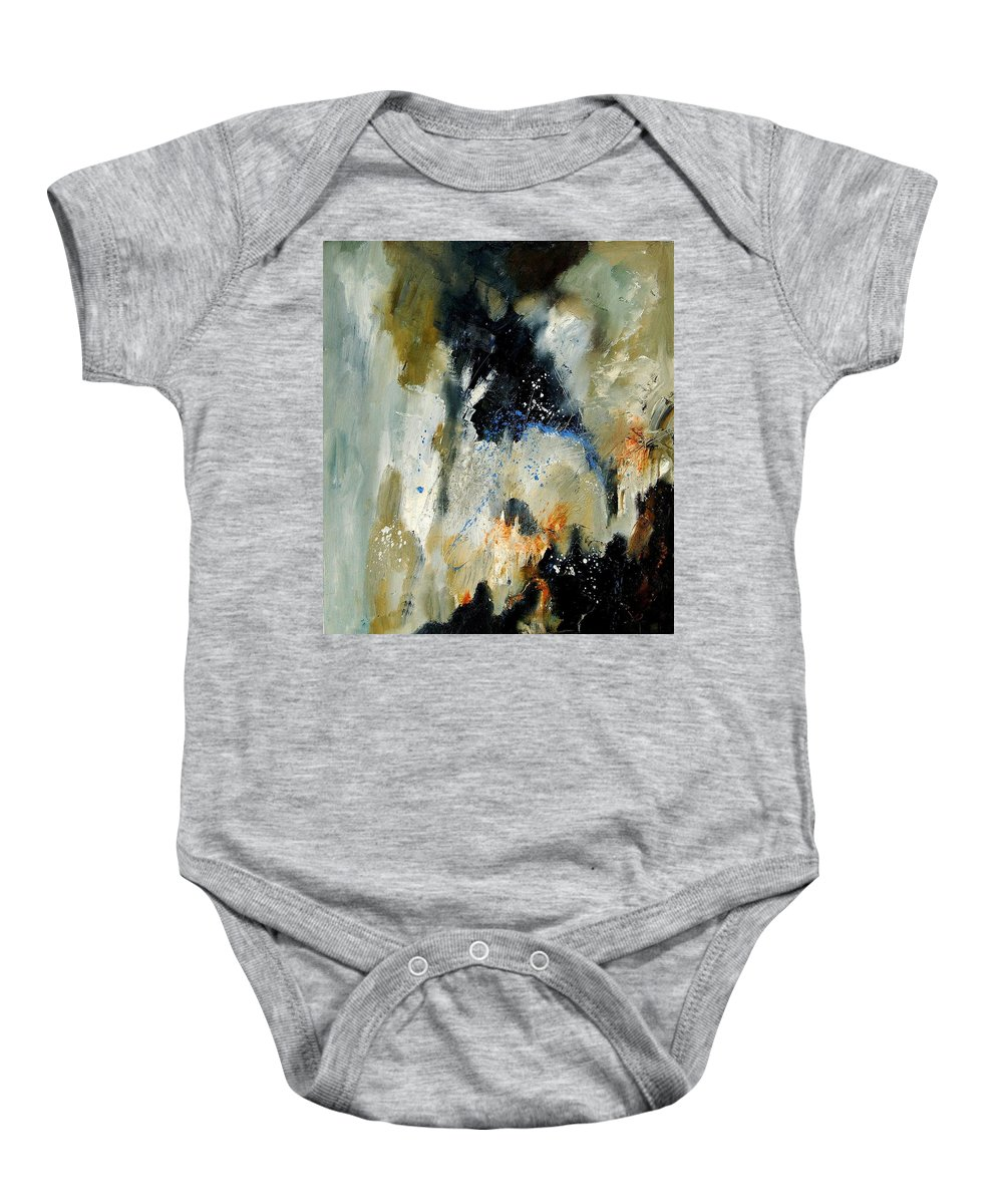 Abstarct Baby Onesie featuring the painting Abstract 070808 by Pol Ledent