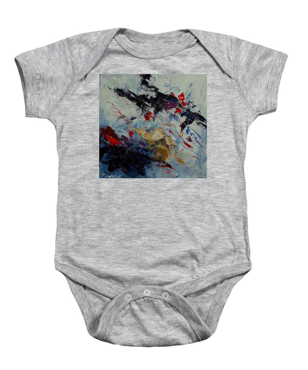 Abstract Baby Onesie featuring the painting Abstract 33900122 by Pol Ledent