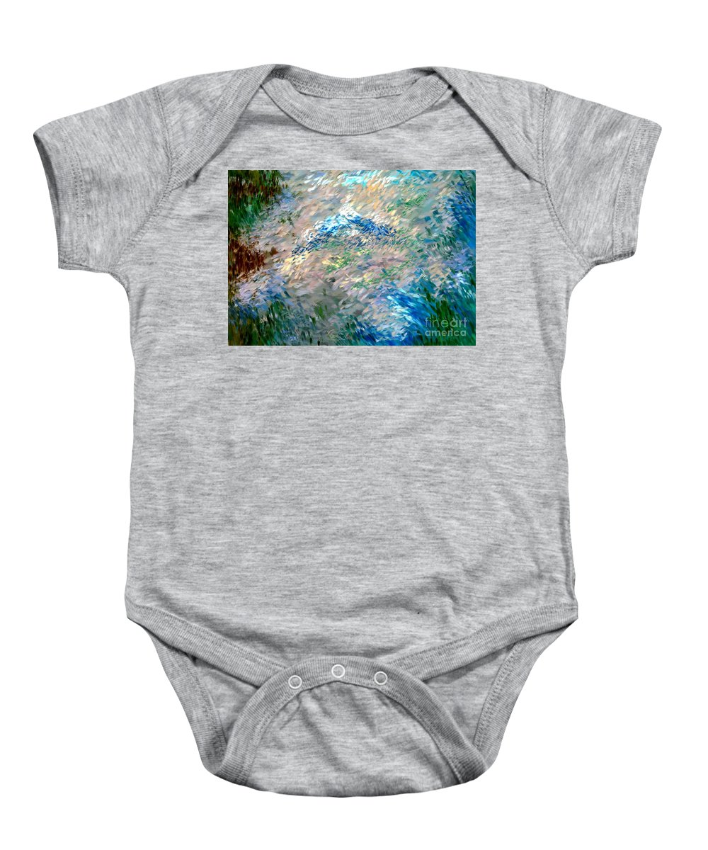 Abstract Baby Onesie featuring the digital art Abstract 6-03-09 A by David Lane