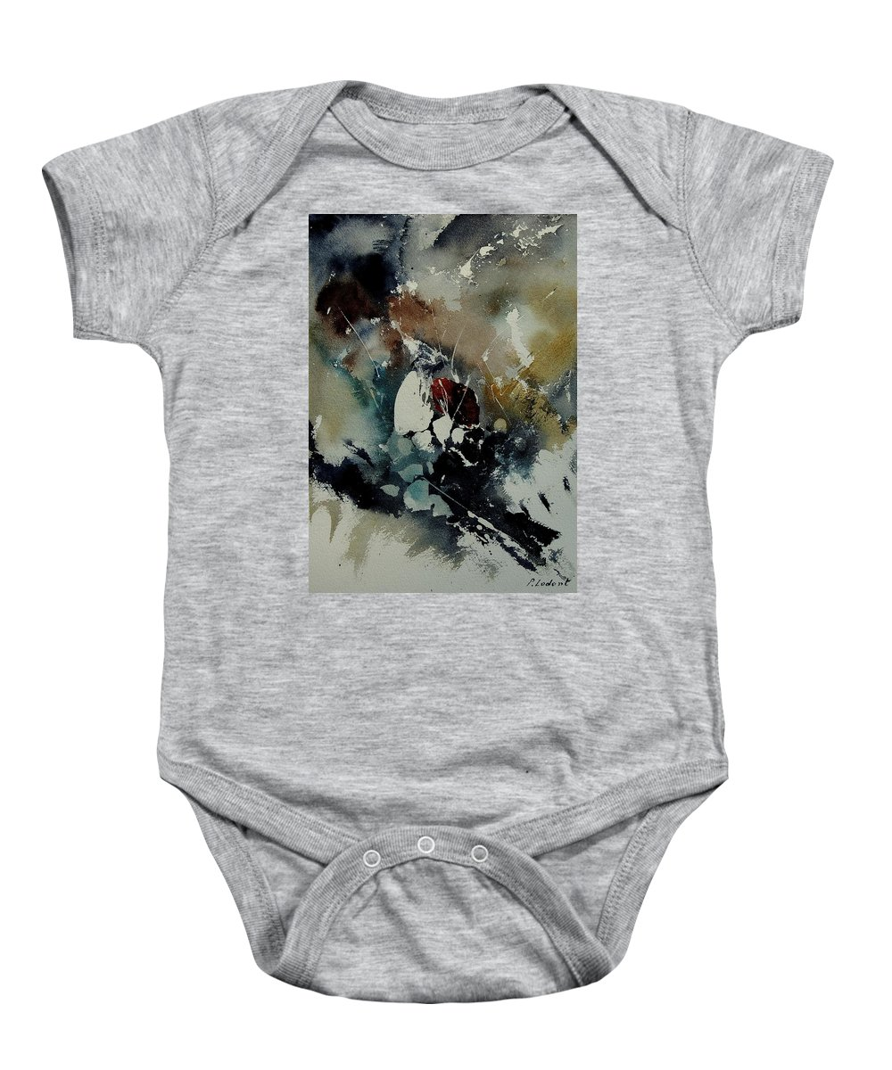 Abstract Baby Onesie featuring the painting Abstract 900121 by Pol Ledent