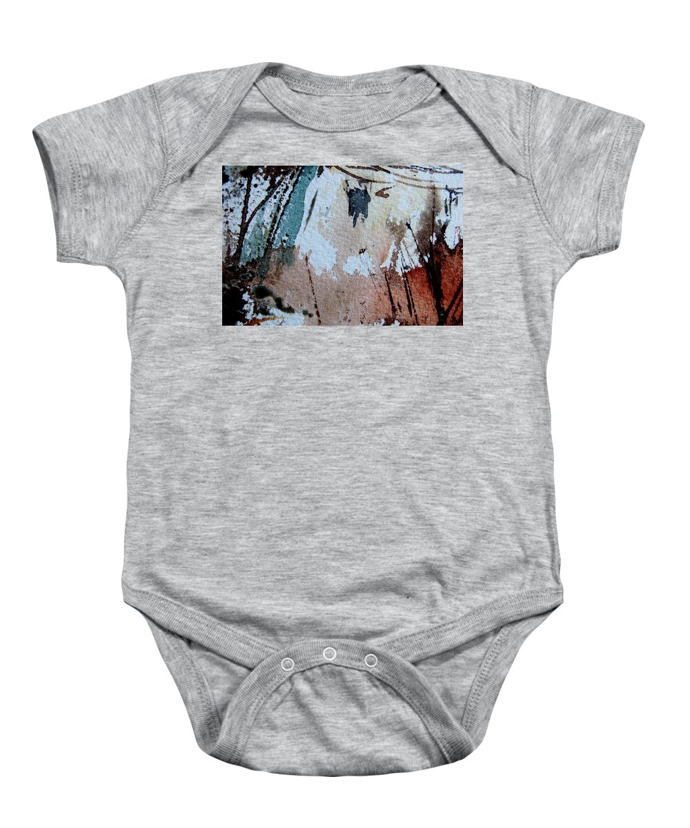 Abstract Baby Onesie featuring the painting Abstract 9036 by Pol Ledent