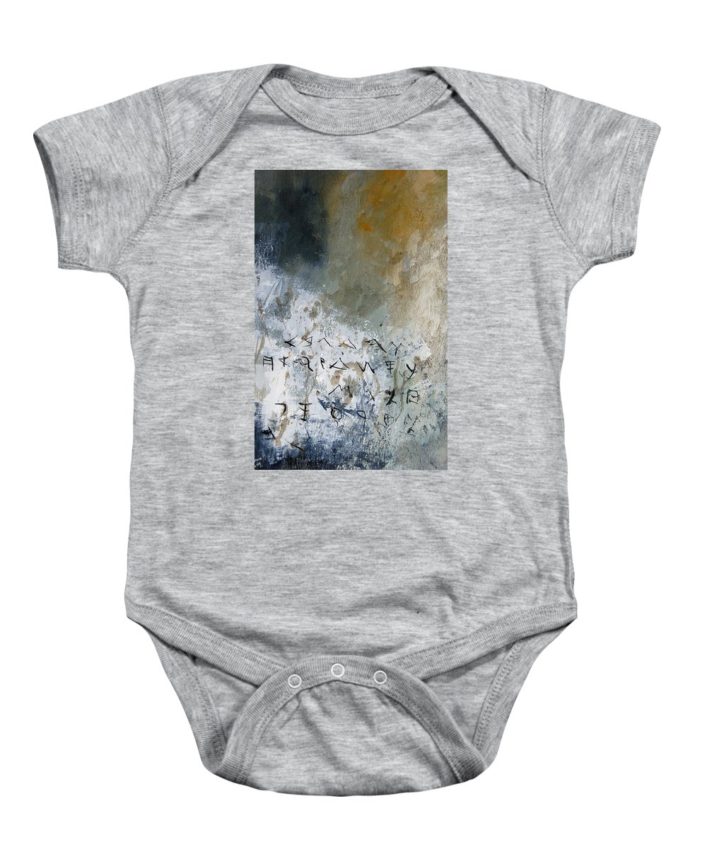 Abstract Baby Onesie featuring the painting Abstract 904023 by Pol Ledent