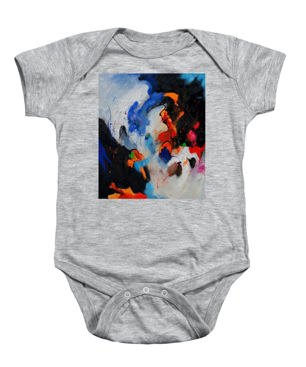 Abstract Baby Onesie featuring the painting Abstract 905060 by Pol Ledent