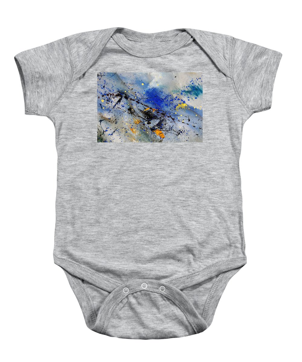 Abstract Baby Onesie featuring the painting Abstract 969090 by Pol Ledent