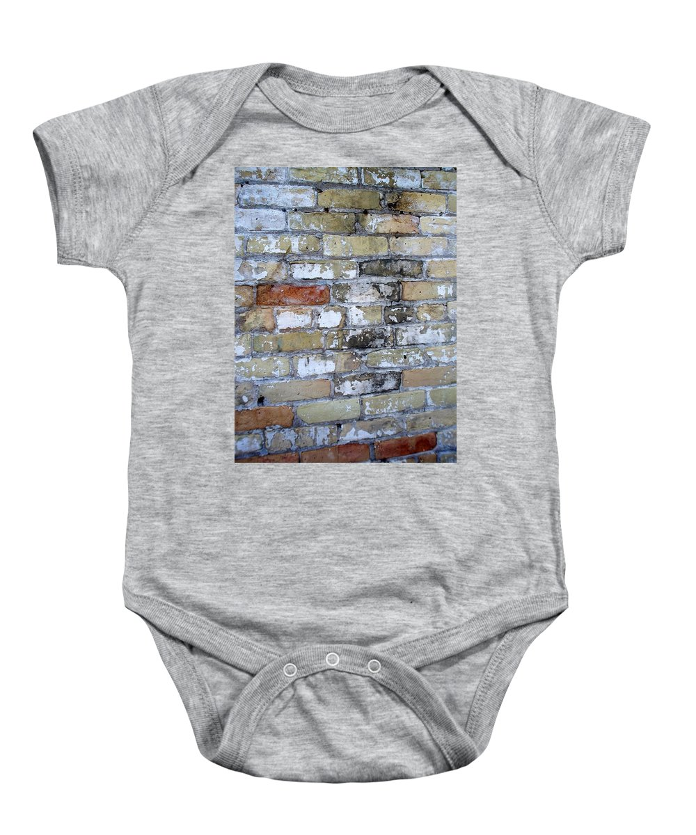 Industrial Baby Onesie featuring the photograph Abstract Brick 10 by Anita Burgermeister