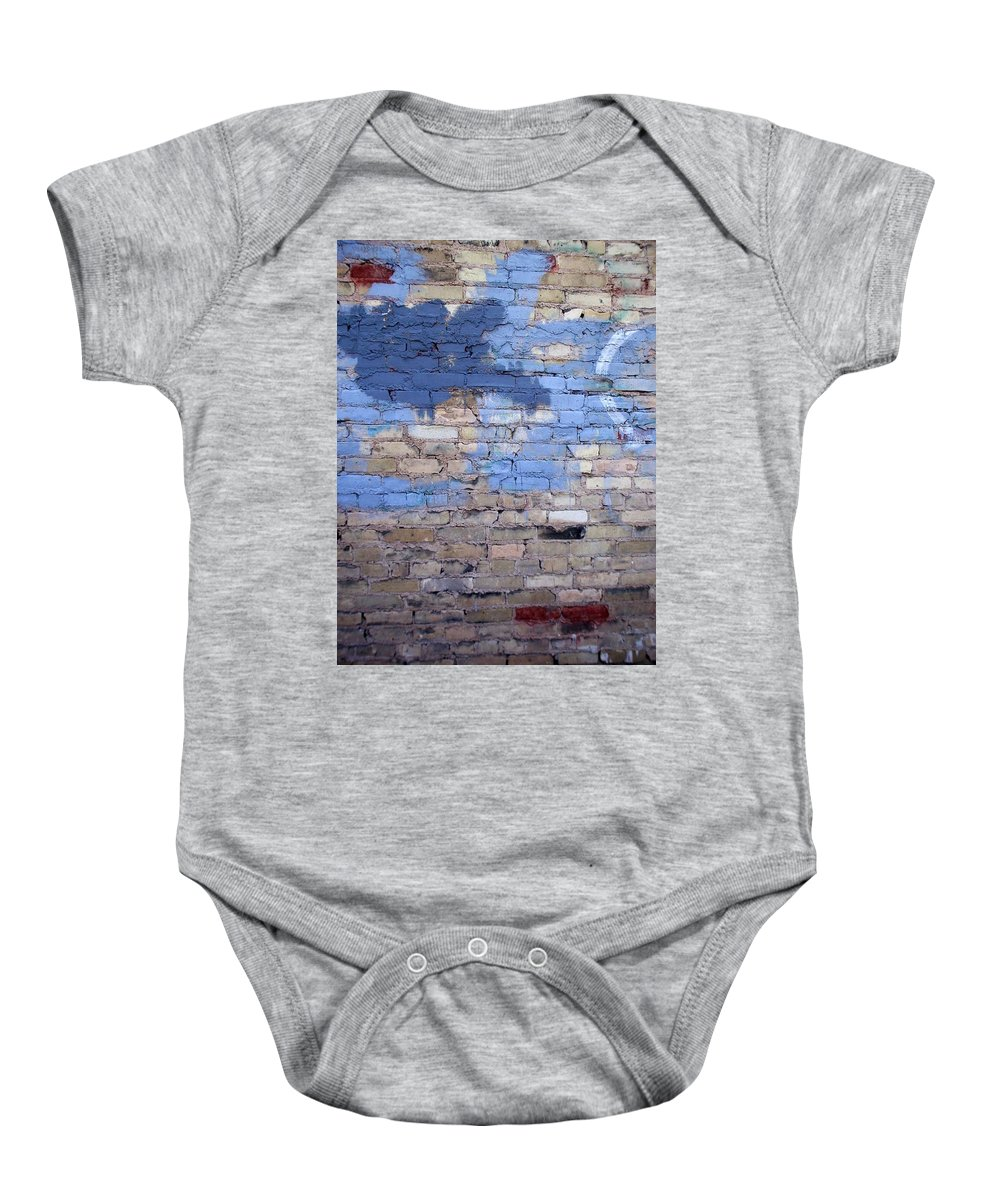 Industrial Baby Onesie featuring the photograph Abstract Brick 3 by Anita Burgermeister